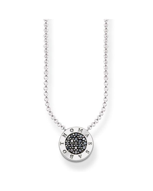 Thomas Sabo - Metallic Signature Black Zirconia Necklace - Lyst