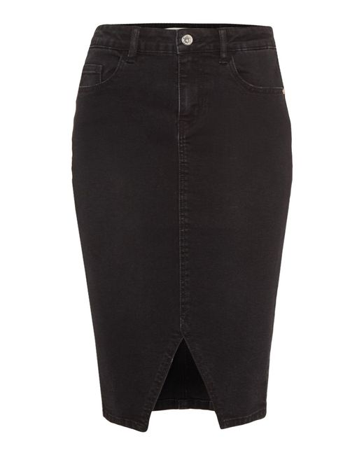 Vero Moda | Black Susanna High Waisted Slit Pencil Skirt | Lyst