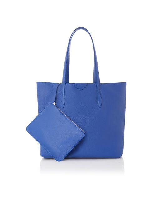 L.K.Bennett - Peggy Blue Leather Tote Bag - Lyst