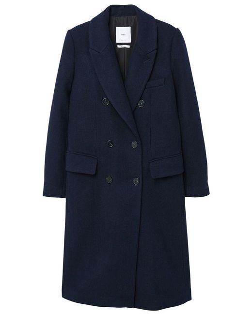 Mango | Purple Lapels Wool Coat | Lyst
