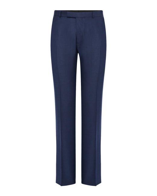 Howick - Blue Borden Textured Suit Trouser for Men - Lyst