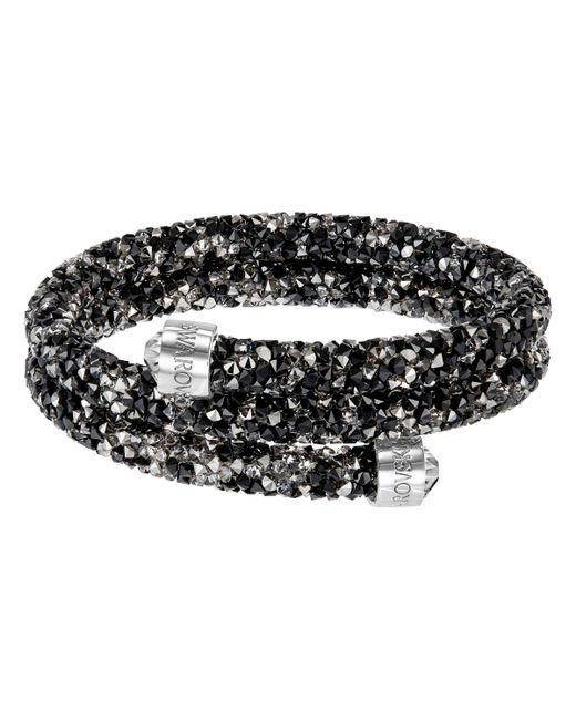 Swarovski | Black Crystal Dust Bangle Bracelet | Lyst