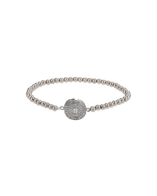 Mikey | Metallic Disc Circle Crystal Elastic Bracelet | Lyst