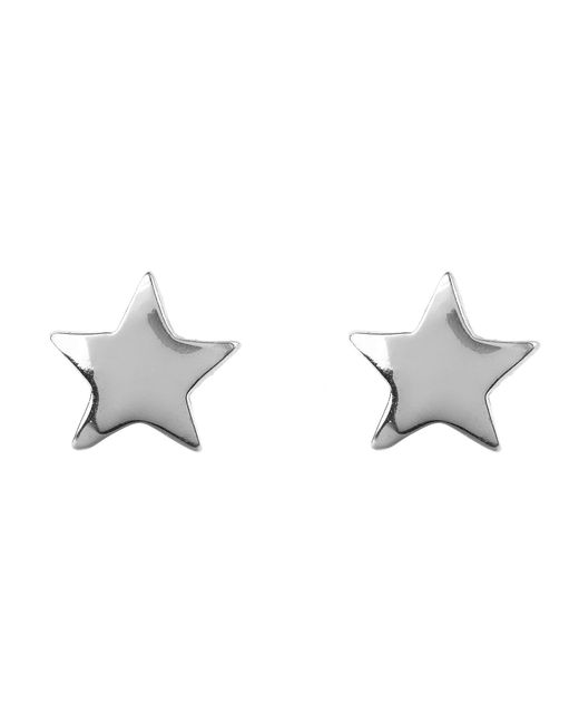 Latelita London - Metallic Mini Star Stud Earring Silver - Lyst