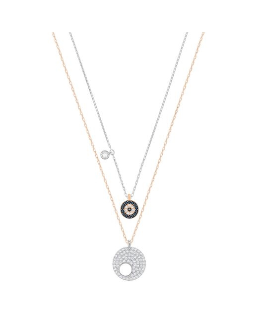Swarovski | Metallic Evil Eye Pendant Set | Lyst