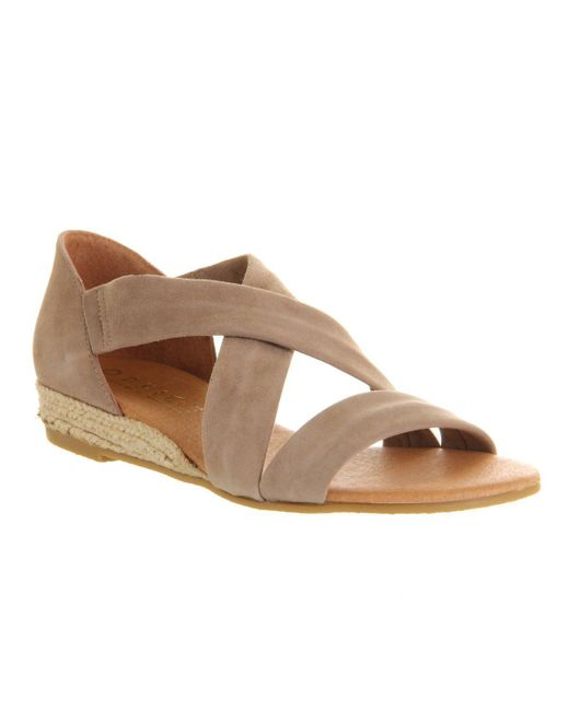 Office - Natural Hallie Cross Strap Sandals - Lyst