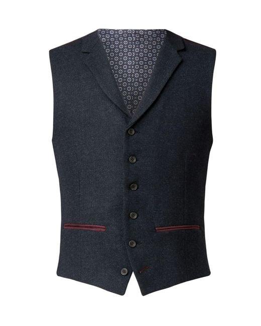 Racing Green - Blue Men's Leigh Navy Herringbone Waistcoat for Men - Lyst