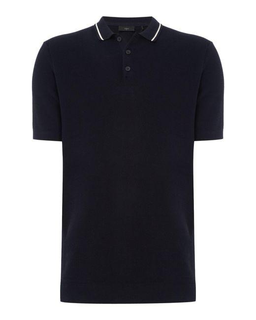Minimum | Blue Men's Shirt Sleeve Polo Shirt for Men | Lyst