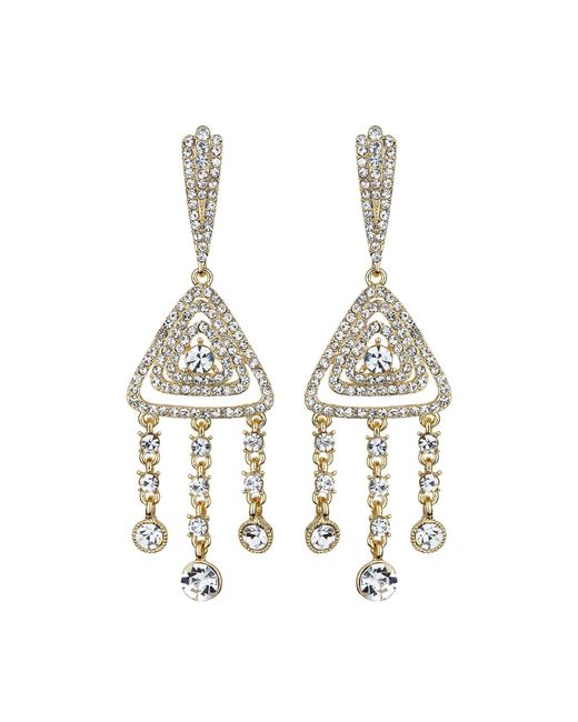 Mikey | Metallic Diamond Filigree Crystal Drop Earring | Lyst
