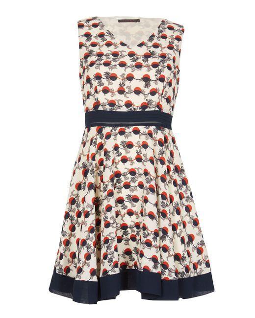 Tenki | Multicolor Sleeveless Geo Circle Skater Dress | Lyst