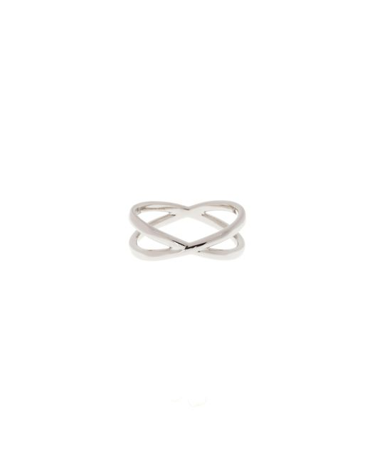 Karen Millen | Metallic K9460103sm Criss-cross Ring | Lyst