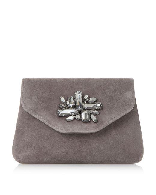 Dune | Gray Bandie Brooch Detail Clutch Bag | Lyst