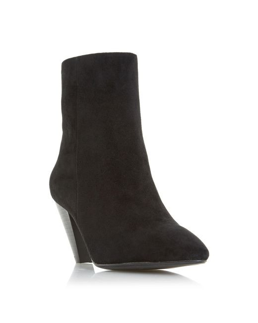Dune - Black Perru Cone Heeled Ankle Boots - Lyst
