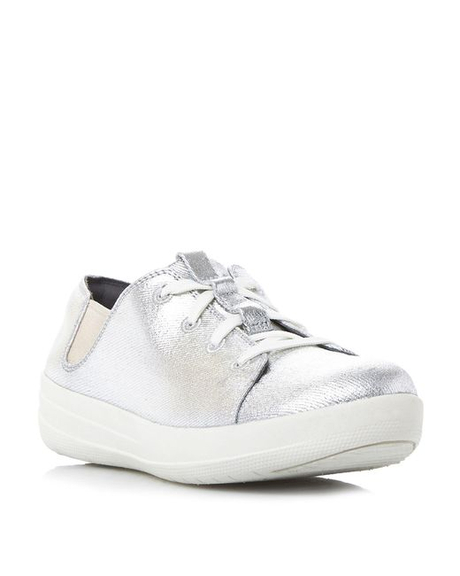 Fitflop   Metallic F-sporty Lace Up Sneakers   Lyst