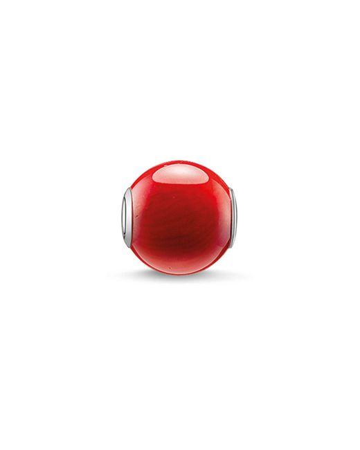 Thomas Sabo | Karma Beads Red Bamboo Coral Bead | Lyst