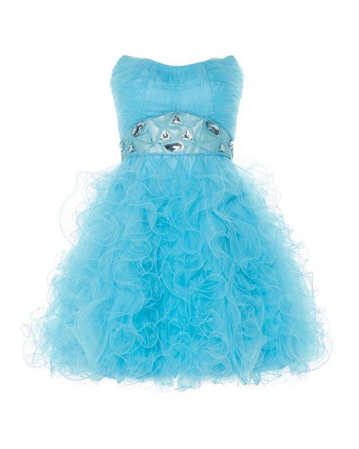 Anoushka G   Blue Tara Short Tulle Prom Dress   Lyst