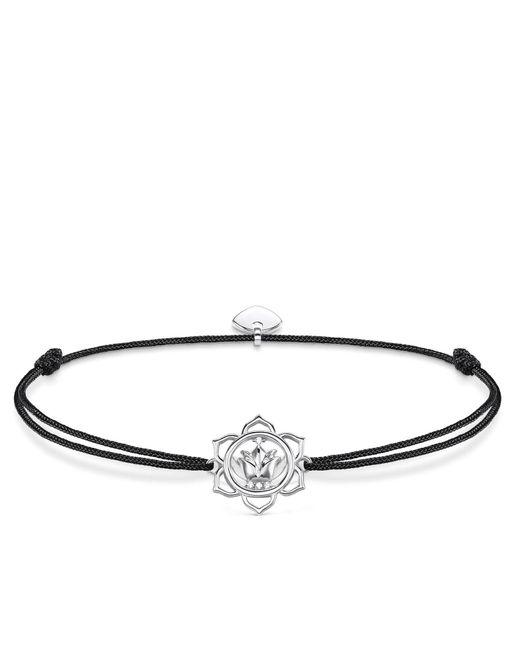 Thomas Sabo - Black Little Secrets Lotus Flower Bracelet - Lyst