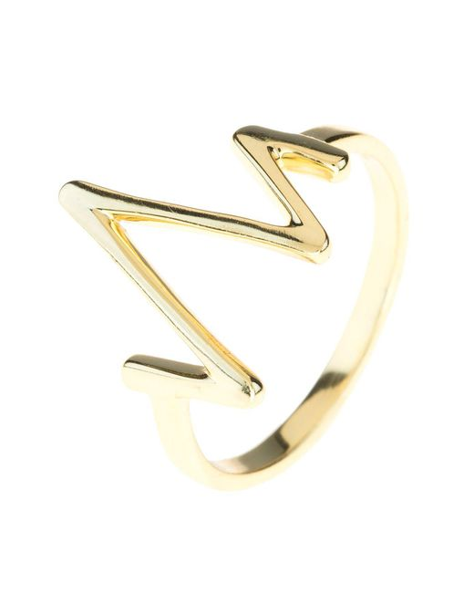 Latelita London - Metallic Heartbeat Ring Gold - Lyst