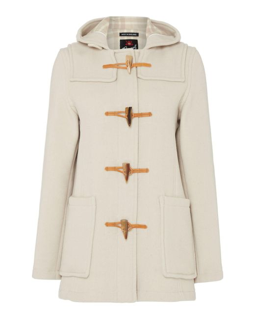 Gloverall | Natural Mid Length Slim Duffle Coat | Lyst