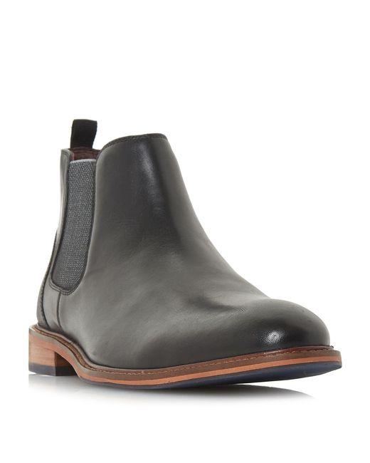 Dune - Black Mezut Leather Chelsea Boots for Men - Lyst
