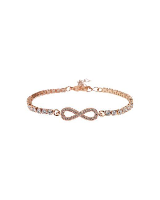 Mikey - Metallic Crystal Bow Crystal Chain Bracelet - Lyst