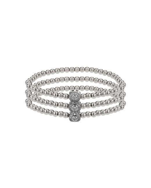 Mikey - Metallic Triple Oval Linked Crystal Bracelet - Lyst