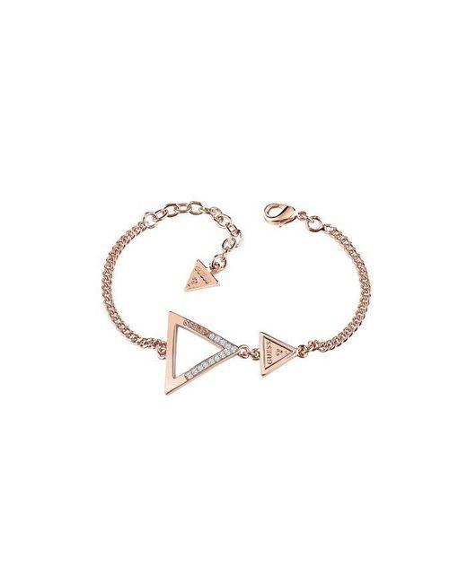 Guess - Metallic Iconic 3angles Ubb83065-l Bracelet - Lyst