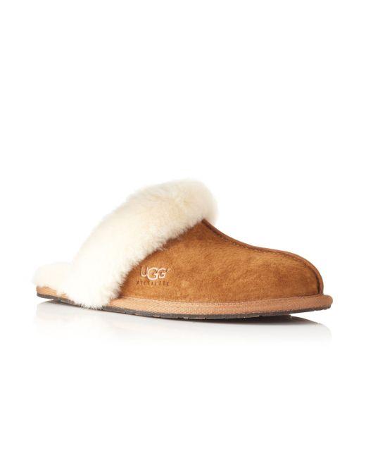 Ugg | Brown Scuffette Ii Slippers | Lyst