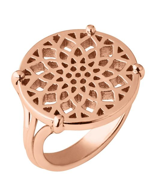 Links of London - Metallic Timeless Rose Gold Coin Ring - Lyst