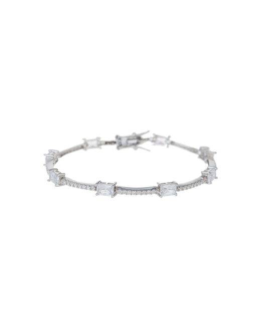 Mikey - Metallic Sterling Silver925 Rectangle Tennis B - Lyst