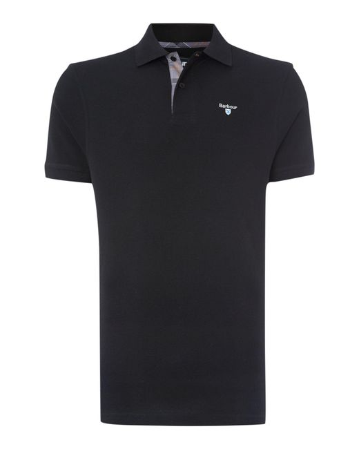 Barbour | Black Tartan Pique Polo for Men | Lyst