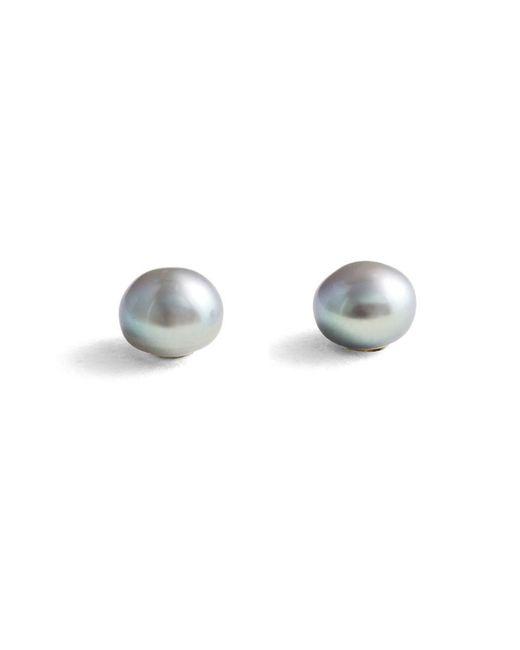 Jersey Pearl | Metallic Silver Small Stud Earrings | Lyst