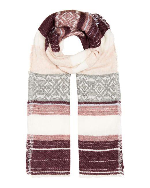 Dickins & Jones | Multicolor Textured Multi Stripe Scarf | Lyst