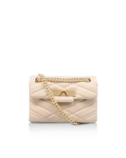 Kurt Geiger - White Leather Mini Mayfair X Shoulder Bags - Lyst