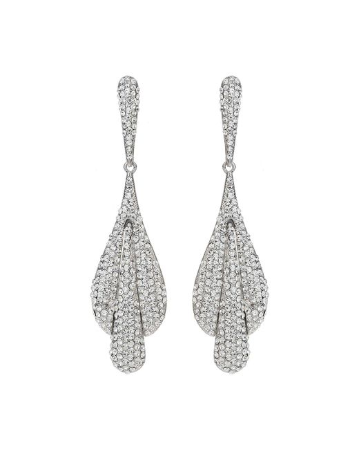 Mikey   White Triple Eclipse Studded Drop Earring   Lyst