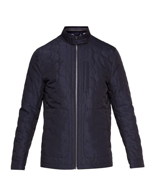 Ted Baker - Blue Dalway Funnel Neck Quilted Jacket for Men - Lyst