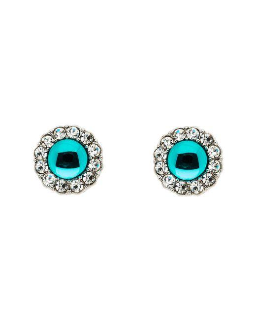 Monet - Silver Blue Zircon Crystal Earrings - Lyst