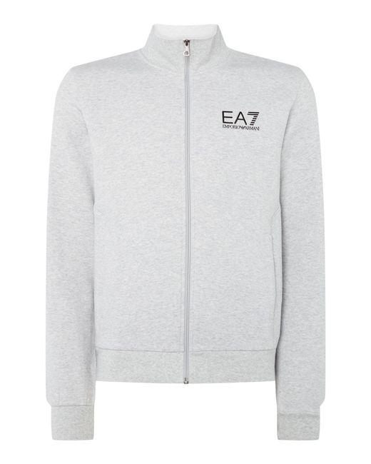 EA7 | Gray Core Id Funnel Neck for Men | Lyst