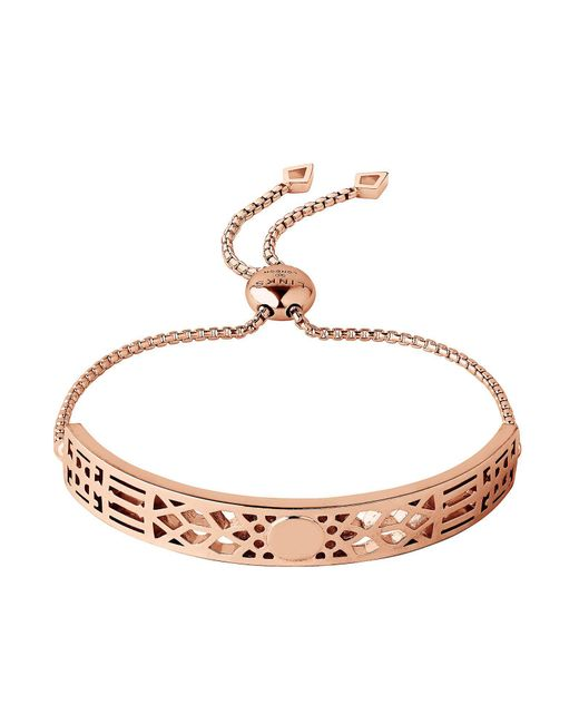 Links of London - Metallic Timeless 18kt Rose Gold Vermeil Toggle Bracelet - Lyst