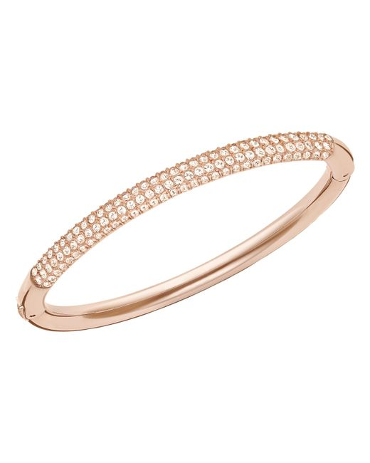 Swarovski | Pink Stone Mini Bangle | Lyst