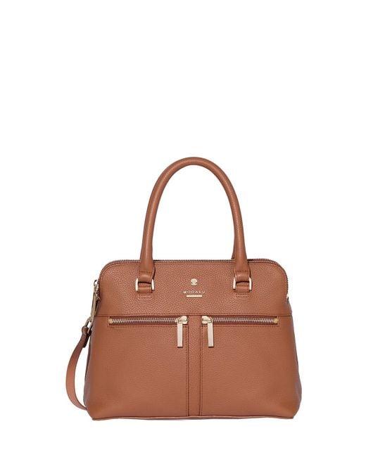 Modalu - Brown Pippa Mini Grab Bag - Lyst