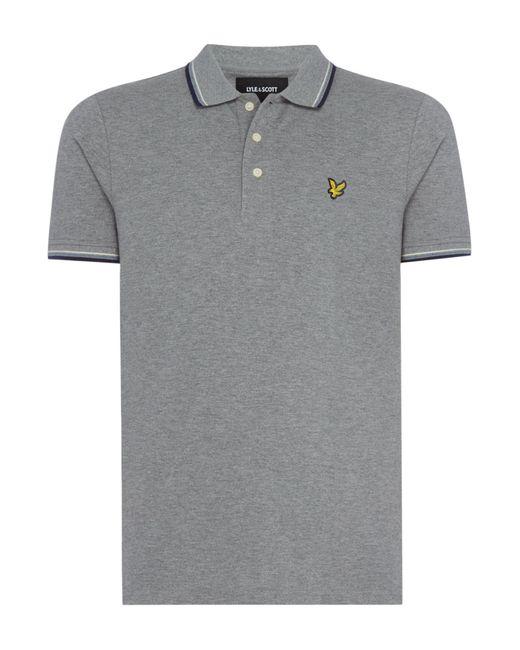 Lyle & Scott - Gray Men's Tipped Polo Shirt for Men - Lyst