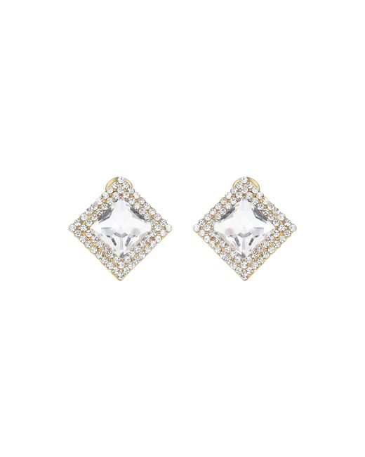 Mikey - Metallic Square Stone Marquise Earring - Lyst