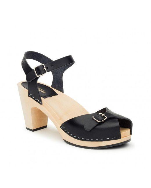 Swedish Hasbeens - Black Pia Super High Sandals - Lyst