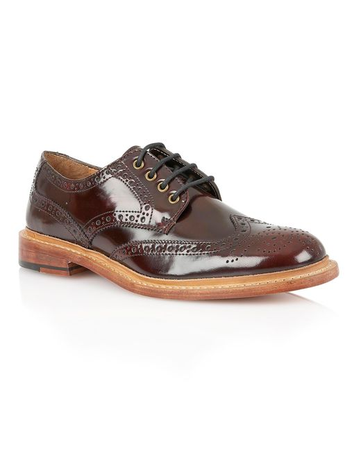 Lotus | Red Edward Lace Up Formal Brogues for Men | Lyst