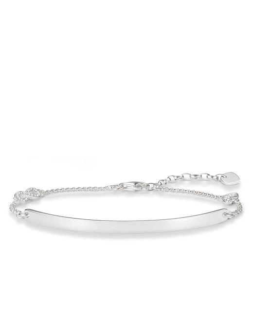 Thomas Sabo | Metallic Love Bridge Silver Infinty Bracelet | Lyst
