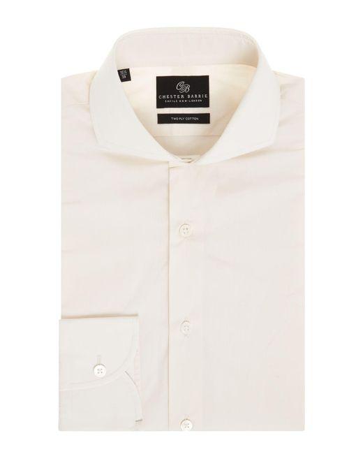 Chester Barrie - Natural Men's Fine Chambray Shirt for Men - Lyst