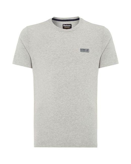 Barbour | Gray International Small Logo T-shirt for Men | Lyst