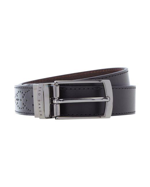 Ted Baker | Black Boxwood Brogue Belt for Men | Lyst