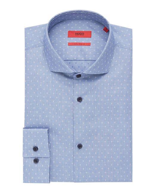 HUGO - Blue Men's Erriko Pin Dot Chambray Shirt for Men - Lyst